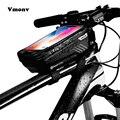 Vmonv универсальная велосипедная сумка  держатель для телефона для iPhone X XR Sansung S9 Водонепроницаемая передняя сумка MTB 6 2 дюйма  мобильный телефо...