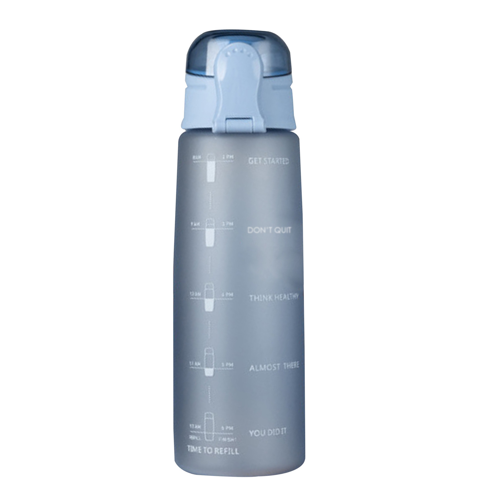 BPA Free Nontoxic 32Oz Large Capacity Water Bottle With Time Marker Leak-Proof Sport Gym Fitness Kettle Tritan Shaker