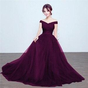 Image 4 - Beauty Emily robe longue de soirée Maxi élégante, dos nu, bleu Royal, robe de fête, de standing, 2020, à lacets