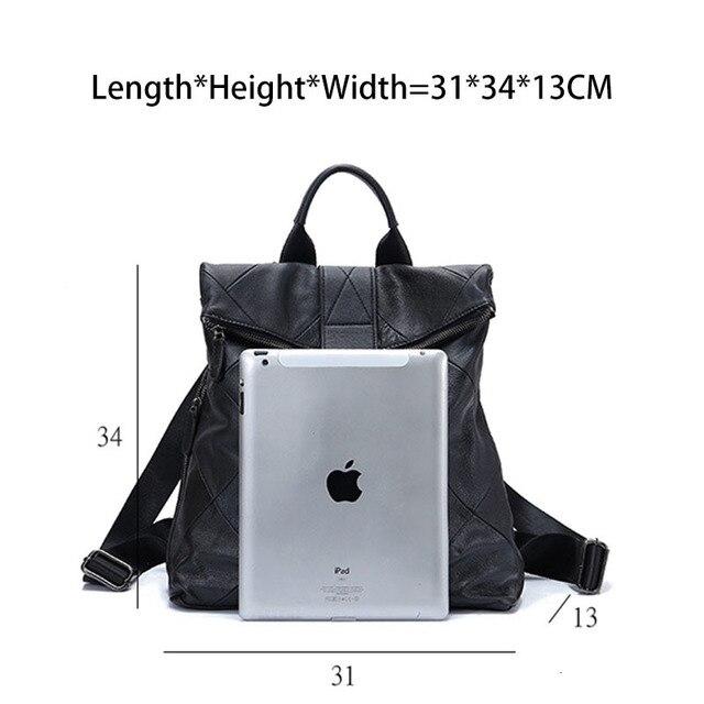 Leather Anti Theft Women Backpack Outdoor Travel Bag Large Capactiy Girl's Schoolbag Daily Knapsack Mochila Feminina Sac A Dos 3