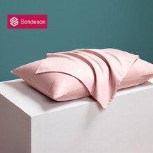 Sondeson Women Beauty 100 Silk Noble Pink Pillowcase 25 Momme Silky Healthy Skin Hair Pillow Case