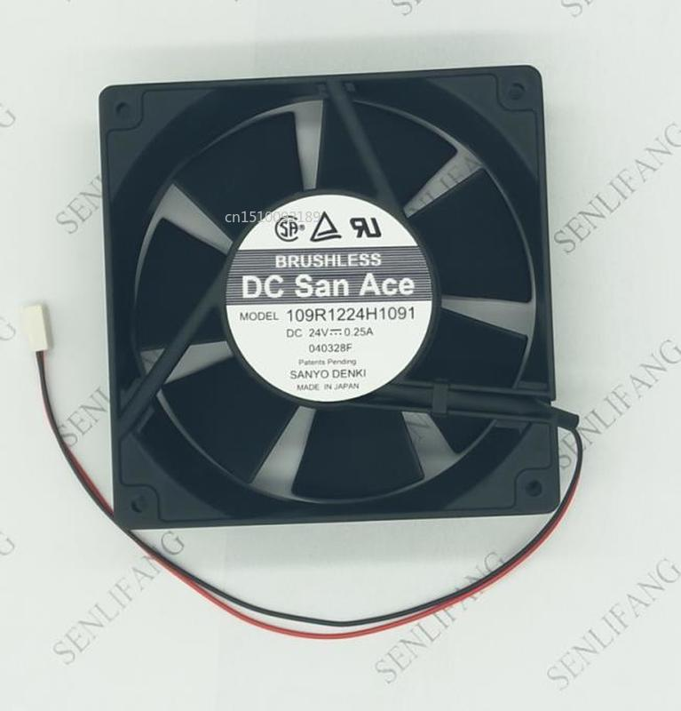Free Delivery. 109 R1224h1091 24 V 0.25 A Original 120 * 2 38 Spool Flow Fan One Year Warranty