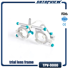 TPV 9000 free shippping international German Super Light 50g Titanium Made Adjustable Frame trial lens frame