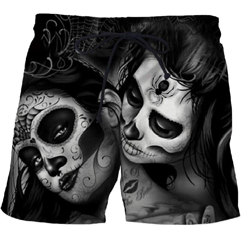 Casual Printed Beach Shorts Masculino Men 3d Streetwear Board Shorts Plage Quick Dry Shorts Funny Swimwear DropShip