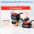 Щеточный электронный регулятор скорости HobbyWing QuicRun 30A Водонепроницаемый и Brushless ESC WP-16BL30 для 1/16 RC автомобиль
