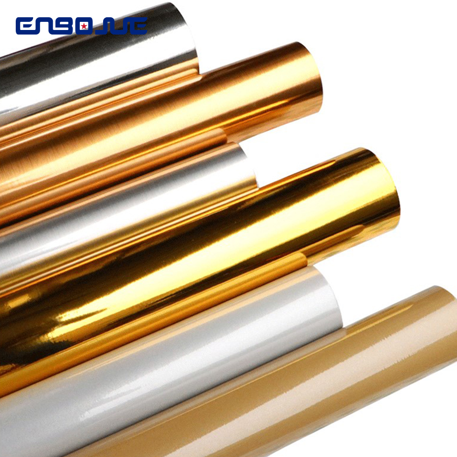 Brushed Gold Sticker Mirror Waterproof Aluminum Foil Sticky Film Silver Self-adhesive Wallpaper Diy Furniture Renovation Sticker