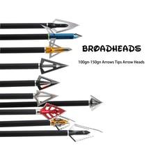 Hunting 1pc Archery Broadhead Arrowhead Arrow Head Point Tip Fishing Arrow Tips
