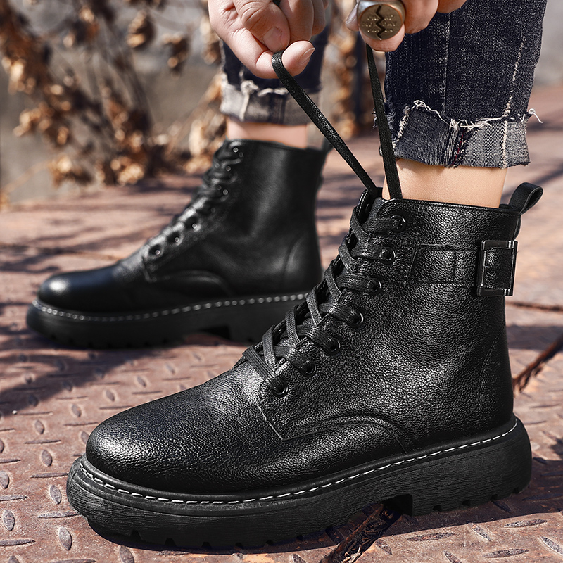 Fashion Men Winter Sneakers Casual Bota Coturnos Masculino Motorcycle Boots Male Warm Waterproof Boots Platform Martin Boots