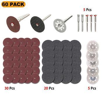 цена на 60Pc Diamond Cutting Wheel HSS Circular Saw Blades Resin Cut Off Disc Wood Working Metal Dremel Mini Drill Rotary Tool Accessory