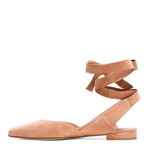 LOVIRS/эксклюзивные женские балетки из натуральной кожи с ремешком на щиколотке и острым носком; обувь на низком каблуке