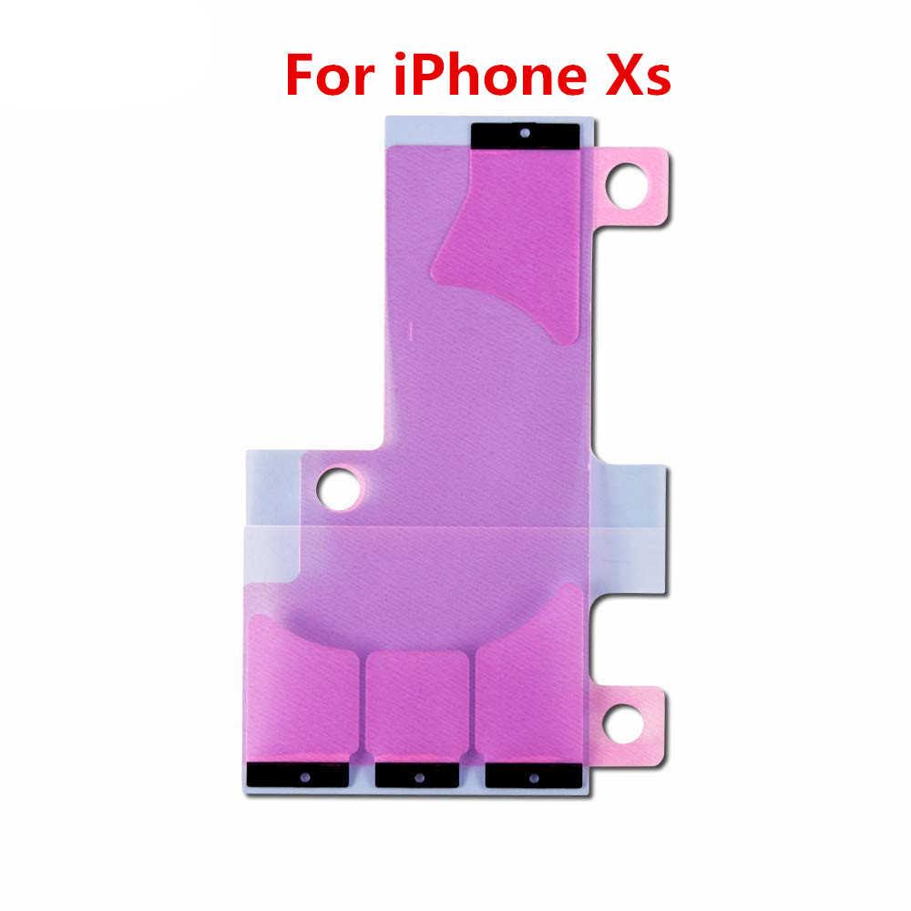 10 ชิ้น/ล็อตสติกเกอร์กาวสำหรับiPhone X 5S 5c 6 6S 7 8 Plus XR XS MAXแบตเตอรี่เทปกาวTab Replacement Part