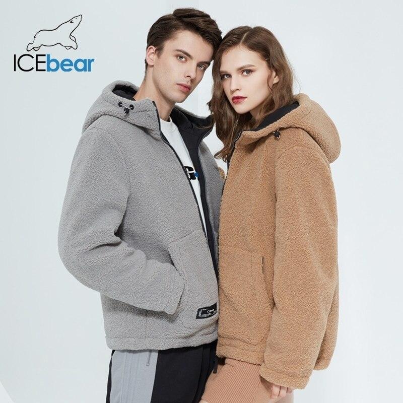 icebear 2020 winter new women's jacket short cotton coat polar fleece jacket unisex brand clothing MWC20966D Parkas  - AliExpress