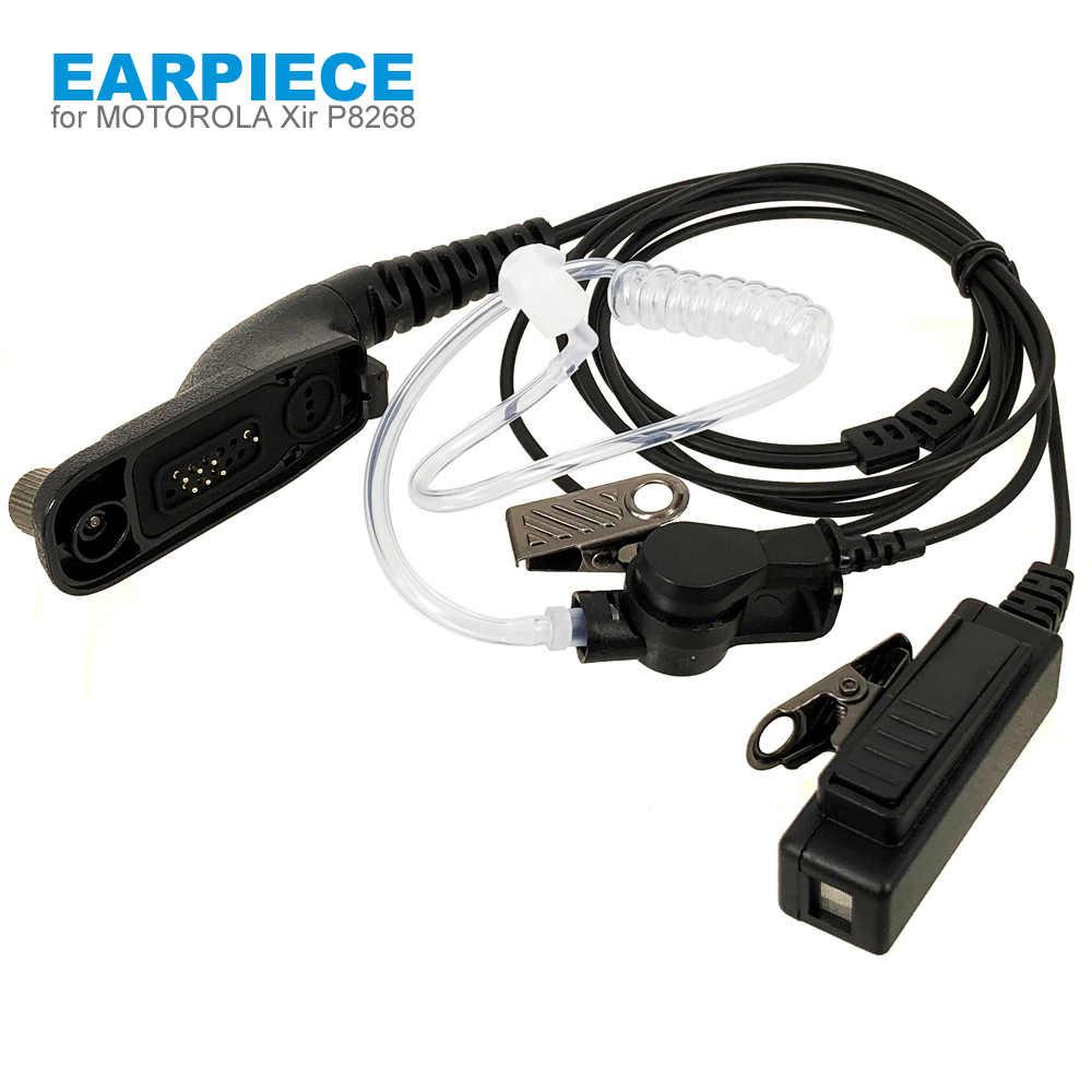 Air หูฟังไมโครโฟนสำหรับ Motorola MTP6550 MTP850S XIR P8268 P8200 APX4000 APX2000 APX6000 DP4800 DP3400 Walkie Talkie