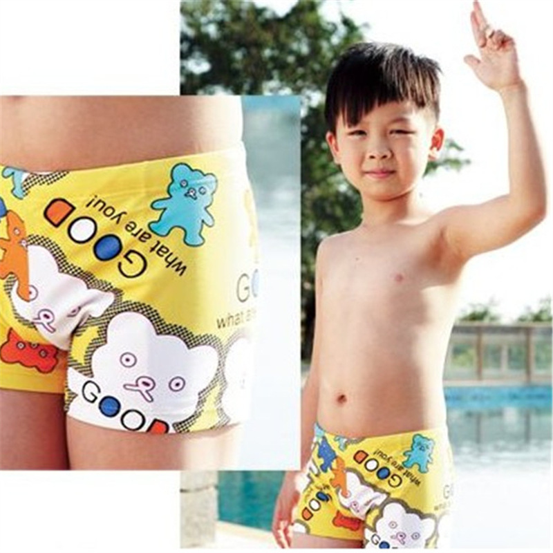 New Style Genuine Product Unisex Children Boxer Short Swimming Trunks Baby Plus-sized Teenager Clothing Swimming Trunks