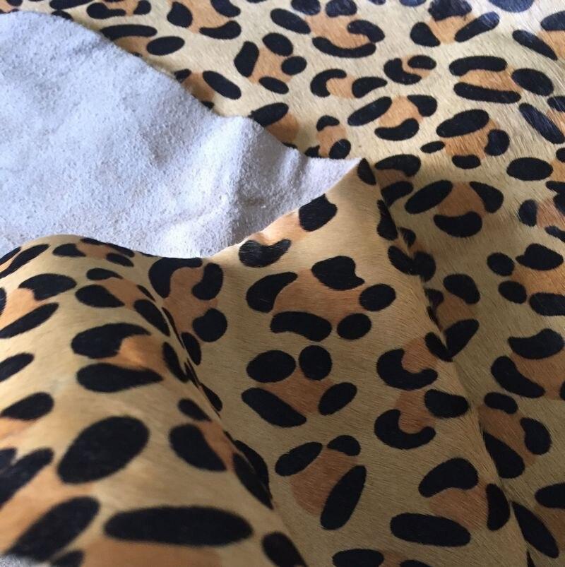 Véritable peau de vache en cuir fourrure léopard imprimé vente par pièce entière - 2