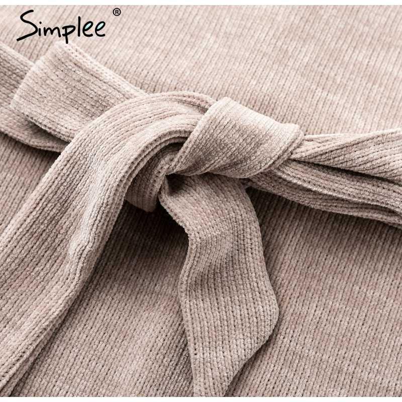 """Женское осенне-зимнее вельветовое платье Simplee, элегантное, повседневное, винтажное, теплое, пикантное вечернее платье с рукавом """"фонарик"""" для вечеринок"""