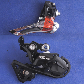 SHIMANO 105 RD & FD R7000 SS & GS Short Middle Cage 2X11s 22 Speed Road Bicycle Rear&Front Derailleur Bicycle part groupset kit