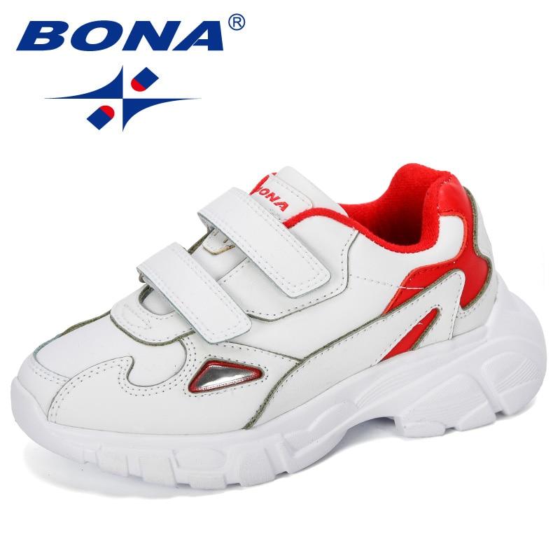 BONA 2019 New Designer Children Shoes Soft Bottom Non-slip Kids Sports Shoes Light Boys Girls Sneakers Walking Jogging Footwear
