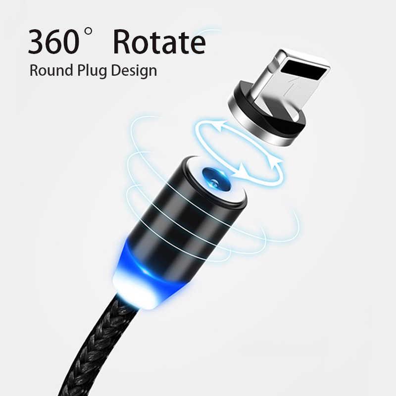 Magnetic Kabel Usb Cepat Pengisian USB Tipe C Kabel Magnet Charger Pengisian Data Kabel Micro USB Ponsel Kabel USB kabel