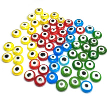 10 piece Glass Stone Beads Ball Shape Evil Eyes Beads Cabochon Glass Beads for Jewelry Making Finding DIY ring accessories