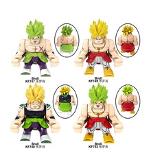 Building Blocks Bricks Big Size Dragon Ball Broli Gogeta Son Goku Vegeta Vegetto Mira Action Figures Toys For Children KF6073