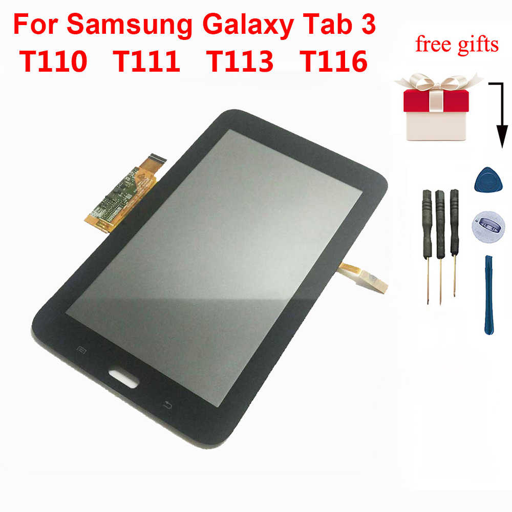 For Samsung SM-T110 LCD Display Touch Screen Digitizer for Samsung Galaxy Tab 3 Lite 7.0 T110 SM-T111 T113 T116 LCD Assembly