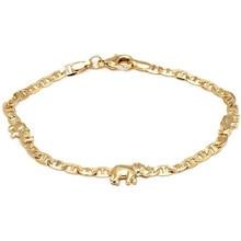 Bracelete do tornozelo do pé da praia do verão da cor do ouro do vintage para as mulheres pingente de elefante encantos