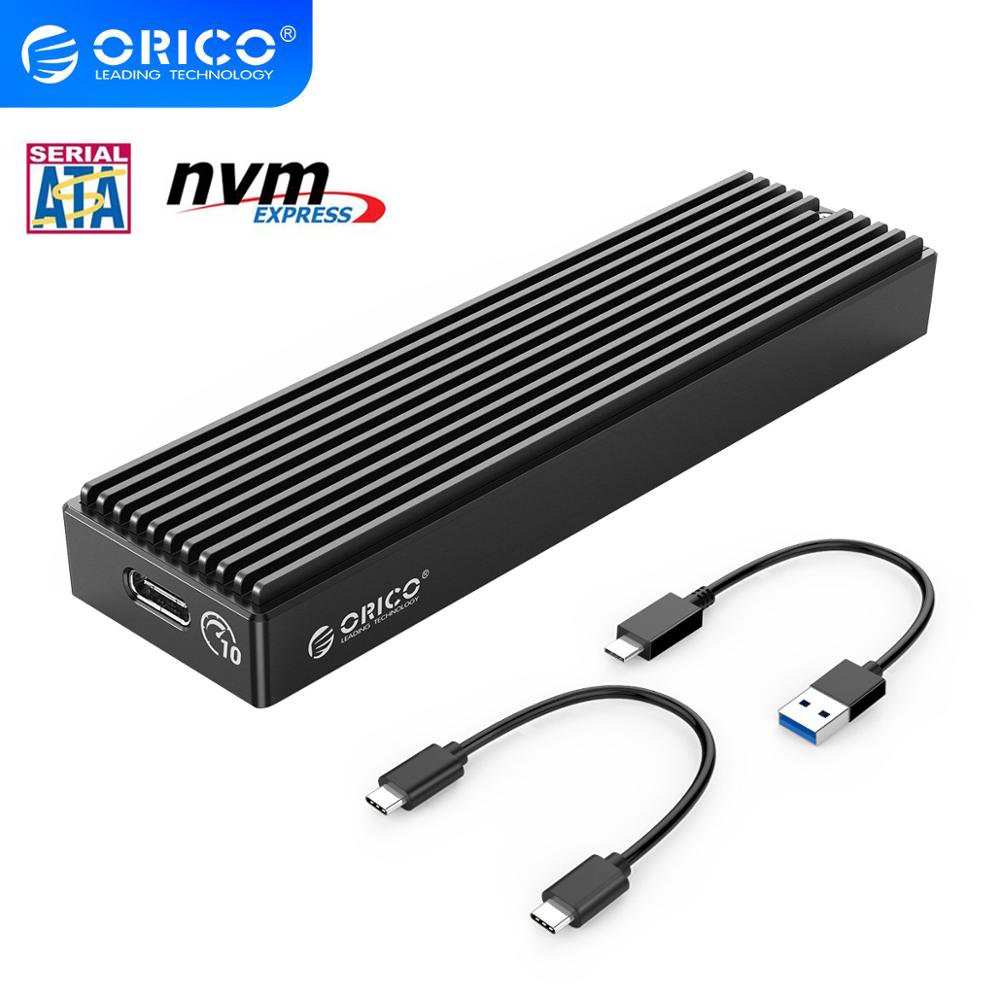 ORICO M 2 NVME EnclosureM2 SATA NGFF USB CaseGen2 10Gbps PCIe SSD Case 5Gbps SSD box Tool Free For 2230 2242 2260 2280 m2 SSD