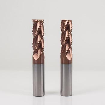 цена на ZGT Roughing End Mill Metal Cutter HRC55 4 Flutes Cnc Endmill Alloy Carbide Tungsten Steel Milling Cutter Roughing End Mills 6mm