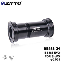 купить ZTTO BB386 EVO 24 Adapter bicycle Press Fit Bottom Brackets Axle for MTB Road bike parts 24mm Crankset chainset дешево