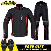 Veste de Moto homme ensemble Moto Protection coupe-vent étanche Moto équitation Moto veste + pantalon costume Body Armor pour 4 saison