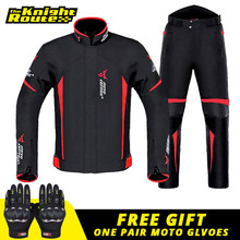 Suit Moto Jacket Moto-Protection Body-Armor Riding Waterproof Pants for 4-Season Man-Set