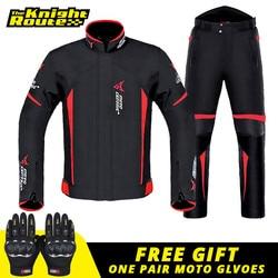 Motorcycle Jacket Man Set Moto Protection Windproof Waterproof Motorbike Riding Moto Jacket + Pants Suit Body Armor for 4 Season