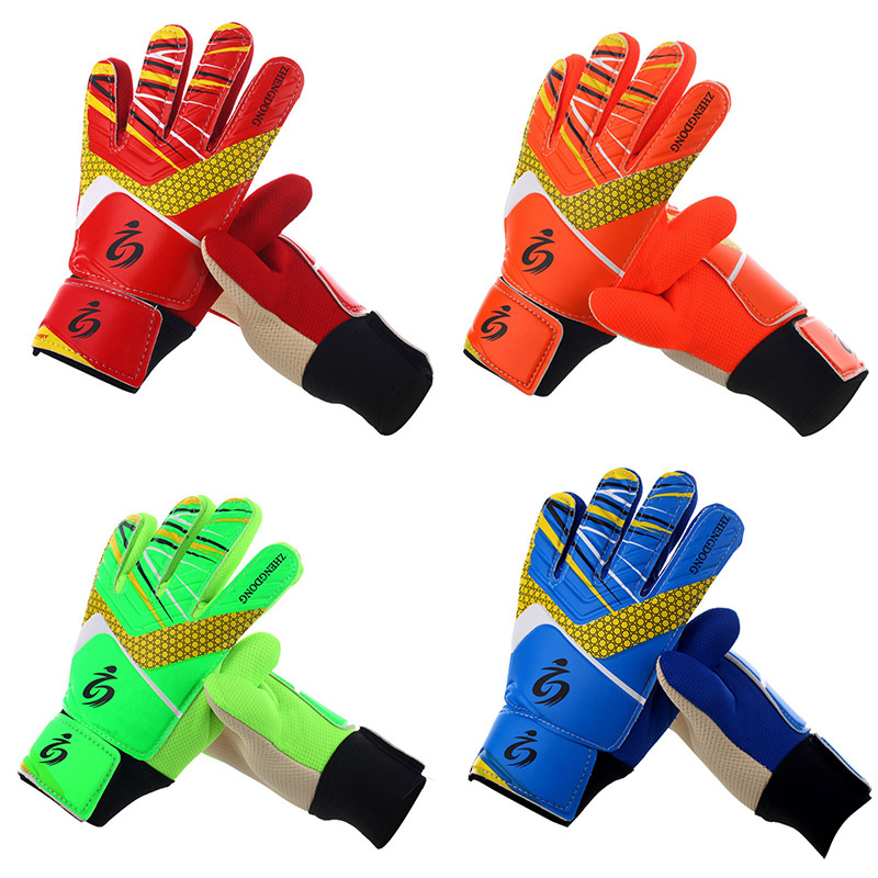 Hot Kids Football Soccer Goalkeeper Anti-Slip Training Gloves Breathable Gloves With Leg Guard Protector