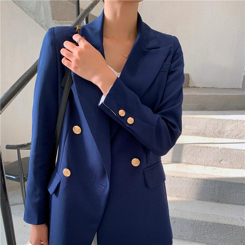 HziriP All Match New Solid Chic Korean 2020 Plus Office Lady Streetwear Fashion OL All Match Loose Slim Regular Women Blazers