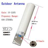 ZQTMAX 12DBi Omni Outdoor antenna for 2G 3G 4G 700 800 900 1800 1900 2100 2600 GSM repeater cellular amplifier Mobile Internet