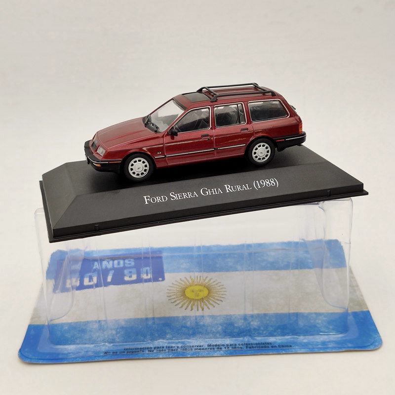 IXO 1:43 For Ford Sierra Ghia Rural 1988 Diecast Models Collection Toys Gifts Red