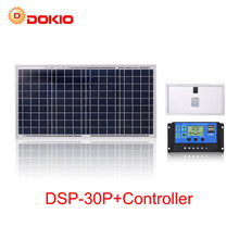 Anaka 30W GÜNEŞ PANELI kiti 18V güneş pili fotovoltaik güneş panelleri ile ev için 10A denetleyici şarj 12V pil güneş çin