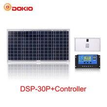 Anaka 30w painel solar kit 18v célula solar painéis solares fotovoltaicos para casa com 10a controlador carga 12v bateria solar china