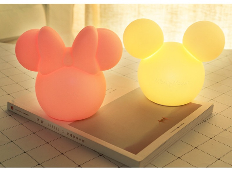 Mickey usb luz da noite dos desenhos