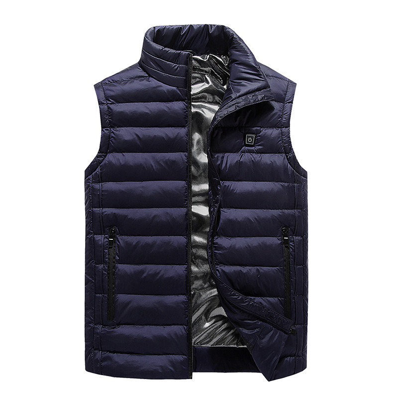 Winter Warm Cold Charging Self-heating Vest Electric Heating Clothes Heating Cotton Coat Men's Large Size Vest