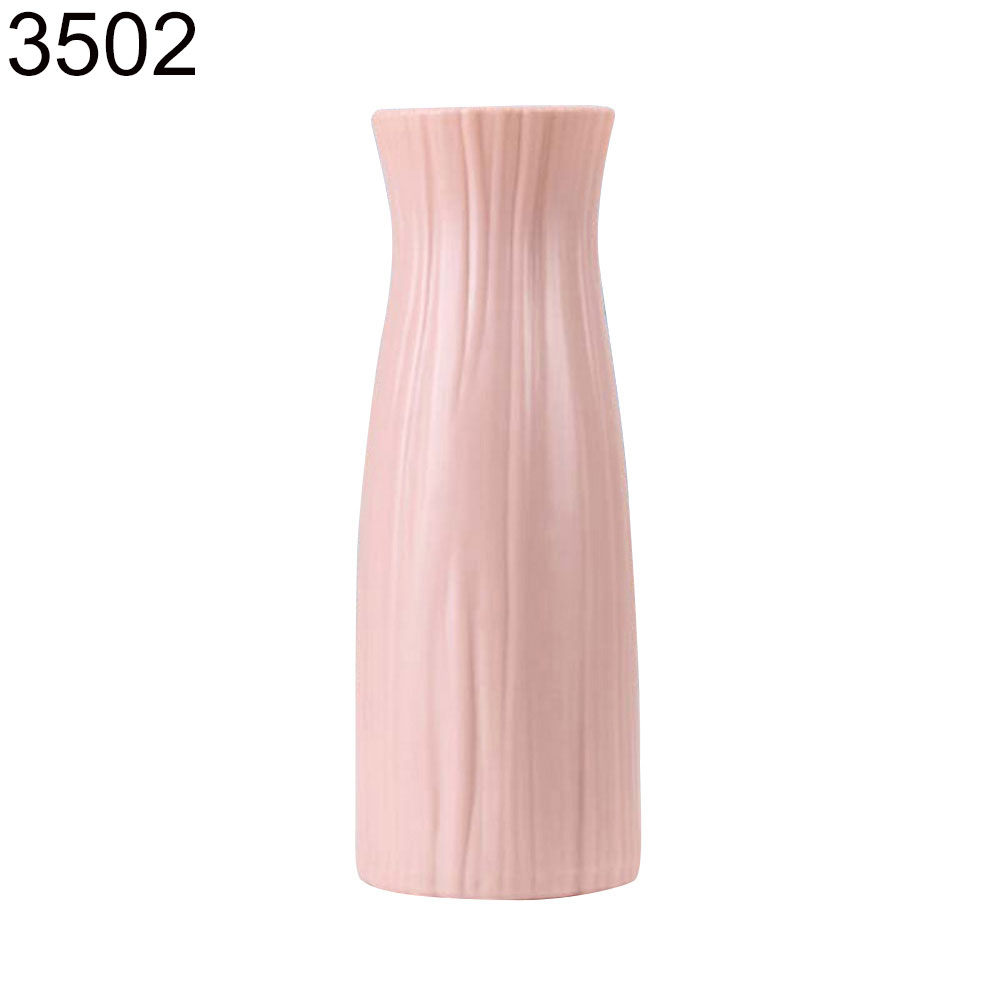 Пластиковый Небьющийся цветочный горшок ваза Современная Кабинет Прихожая Свадьба домашний офис Декор Настольная Ваза - Цвет: Pink 3502