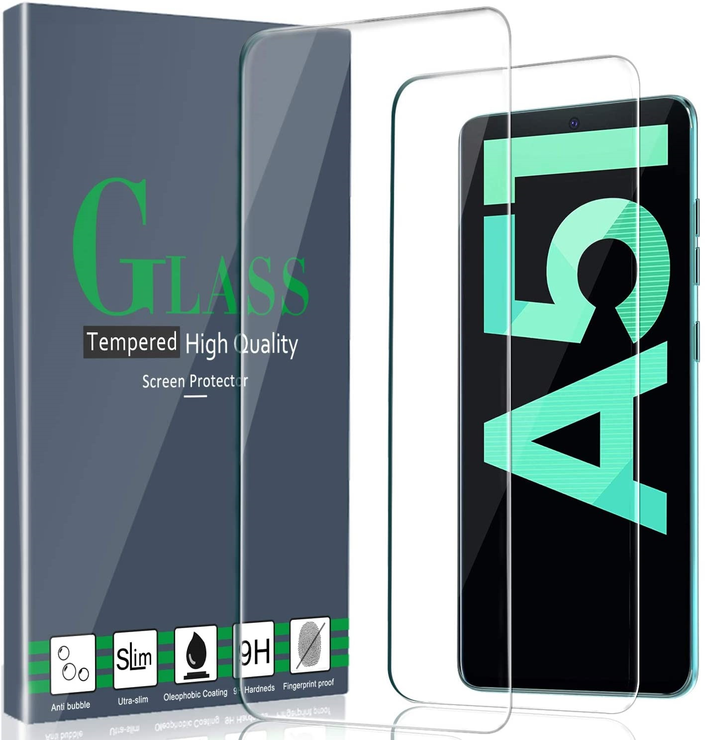 <font><b>Tempered</b></font> <font><b>Glass</b></font> For <font><b>Samsung</b></font> Galaxy A30 A50 Screen Protector 9H Safety Protective Film On A 30 50 A70 A40 A60 M20 M30 <font><b>A10</b></font> A51 A71 image