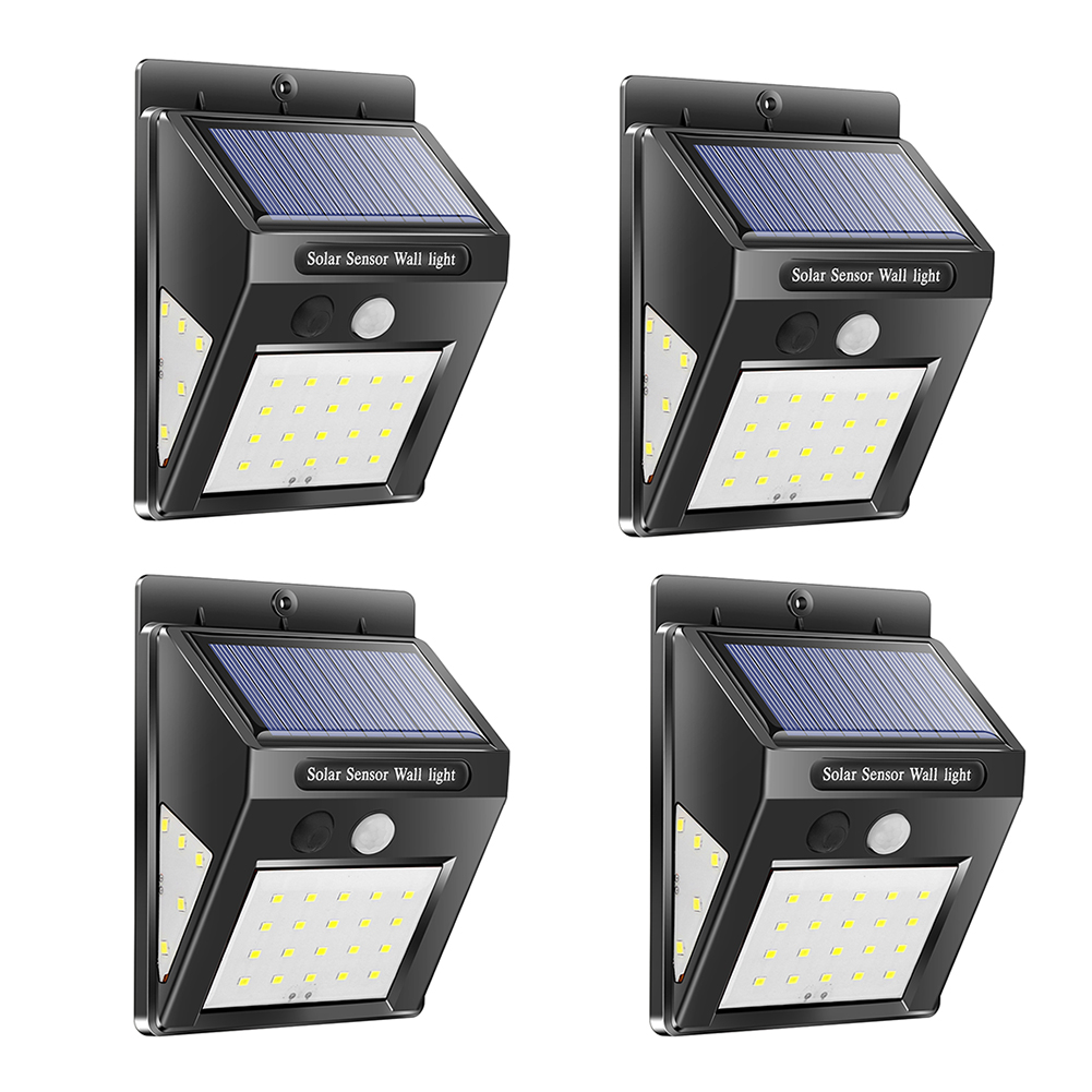 <font><b>30</b></font>/40 <font><b>LED</b></font> Outdoor <font><b>Solar</b></font> Light PIR Motion Sensor 4pcs <font><b>Solar</b></font> Wall Lamp Waterproof Energy Saving Emergency Garden Yard Lights image