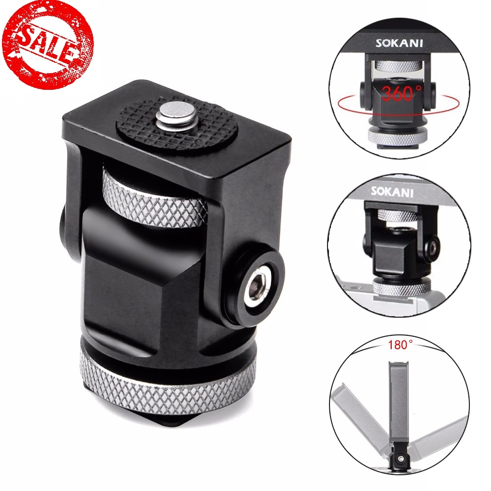 Triple Hot Shoe Mount Adapter Flash Microphone Bracket Holder For Zhiyun Smooth 4 Dji Osm2 Feiyu Vimble 2