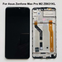 6.26 AAA LCD Originale Per Asus Zenfone Max Pro M2 ZB631KL/ZB630KL Display LCD Touch Screen Digitizer Assembly di ricambio + Frame