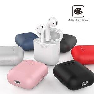 Image 2 - Чехол для airpods 2 черного и белого цвета, милый мягкий силиконовый водонепроницаемый чехол для apple airpod с защитой от царапин