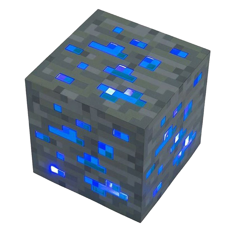 Diamond Ore Light Up Led Night Light Cosplay Toy Gift Blue