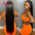 32 34 36 дюймов прямые кружевные передние человеческие волосы парики для женщин бразильские Remy человеческие волосы на шнуровке Парики Perruque ...