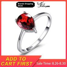 лучшая цена Pear Natural Garnet Ring Solid 925 Sterling Silver Women Jewelry Fine Jewelry For Women Gemstone 925 sterling silver jewelry